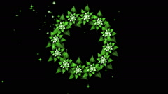 Floral Wedding Wreath of White Flowers Stock Footage