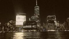 8mm Vintage Style Manhattan New YorkDowntown Stock Video Stock Footage