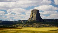 Devils Tower Monument Wyoming Black Hills USA - stock footage