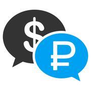 Rouble Dollar Transaction Icon - stock illustration