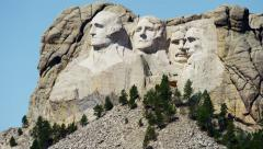 View of Mount Rushmore National Memorial South Dakota USA Stock Footage