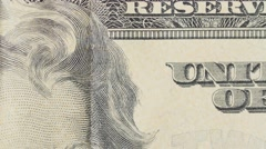 Stock Video Footage of United states of America twenty dollar bill dolly focus
