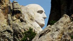 View of Mount Rushmore National Memorial South Dakota USA - stock footage