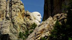View of stone carved Presidents Mount Rushmore USA - stock footage