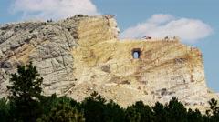 Crazy Horse mountain Memorial South Dakota Indian Stock Footage