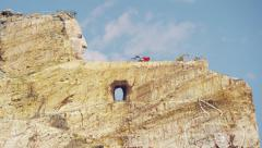 Mountain Memorial to Crazy Horse Indian Chief South Dakota, USA - stock footage