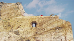 Crazy Horse mountain Memorial South Dakota Indian Stock Footage