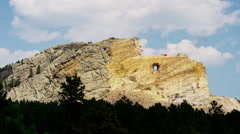 South Dakota Indian mountain Memorial to Crazy Horse USA Stock Footage