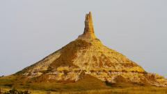 Chimney Rock spire National Monument Nebraska USA - stock footage