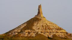 View of Chimney Rock American Monument Nebraska USA - stock footage
