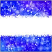 Christmas vector snowflake background for card. Snowfall illustration wallpap - stock illustration