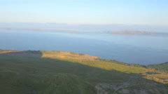 Aerial view of Scottish Loch Isle of Skye Highland Region Scotland - stock footage