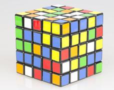 Colored Cube Close Up - stock photo