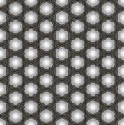 Seamless abstract 3D pattern - ceiling lamps with shadows. Stock Illustration