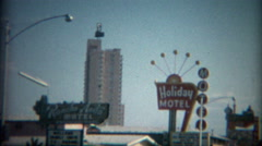 1965: Holiday Motel, Bagdad Inn, Rancho Anita, business roadside sign.  - stock footage