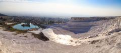 Panoramic Pamukkale View - stock photo