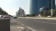 Traffic on the Al Corniche Street Stock Footage