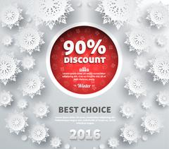 Winter Discount Best Choice Design Flat Stock Illustration