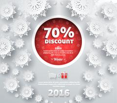 Winter Discount Best Choice Design Flat - stock illustration