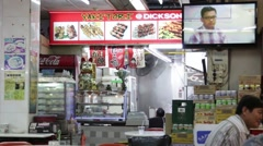 Chinese Street Food Booth Stock Footage