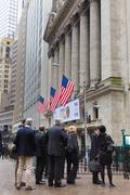 Wall street business, New York, USA. - stock photo
