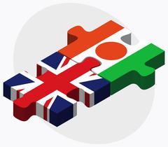 United Kingdom and Niger Flags - stock illustration