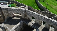 Spis Castle in eastern Slovakia Stock Footage