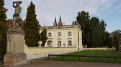 Branicki Palace in Bialystok Stock Footage