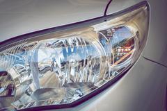 Stock Photo of led headlight of car