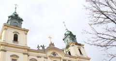 Church Of The Holy Spirit In Warsaw - stock footage