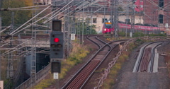 Berlin Warschauer Brücke DB train Stock Footage