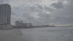 Winter Beach and waves Stock Footage