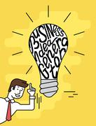 Business idea generator Stock Illustration
