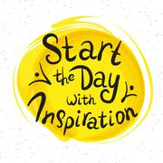 Stock Illustration of Start the day with inspiration