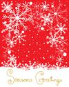 Stock Illustration of snowflake on red