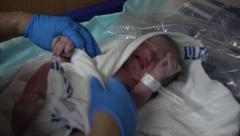 New born seconds after delivery Stock Footage