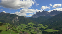 Aerial view of Alto Adige Peaks Dolomites Alps Italy Stock Footage