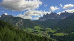 Aerial view Italian Dolomites Alto Adige mountains Italy - stock footage
