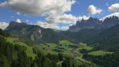 Aerial view of Alto Adige Peaks Dolomites Alps Italy - stock footage
