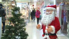 Santa Claus at the Mall. - stock footage