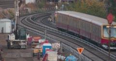 Berlin BVG train from Warschauer Brücke Stock Footage