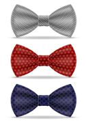 bow tie for men a suit vector illustration - stock illustration