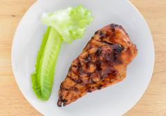 Stock Photo of BBQ Chicken Breast with vegetable