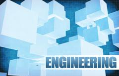 Stock Illustration of Engineering on Futuristic Abstract