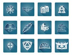 Stock Illustration of Christian Icon Symbols