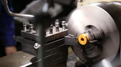 Working lathe operator controlled Stock Footage