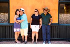 CARTAGENA - SEPTEMBER 13TH: A colombian family visiting the city on September Stock Photos