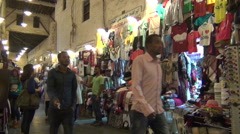 People shopping in souq Waqif Stock Footage