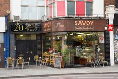 LONDON - SEPTEMBER 2ND: The exterior of the Savoy sandwich bar on September t - stock photo
