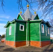 The temple in St. Afanasievskiy Monastery, Brest, Belarus - stock photo